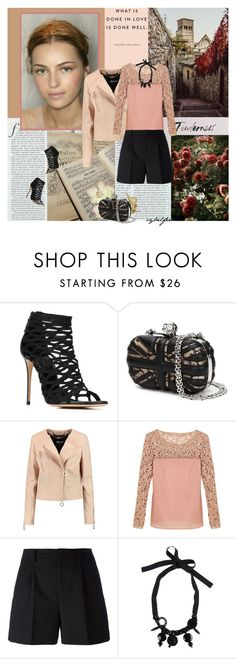 """Cajoline"" by cybelfee ❤ liked on Polyvore featuring Casadei, Just Cavalli and Yves Saint Laurent"