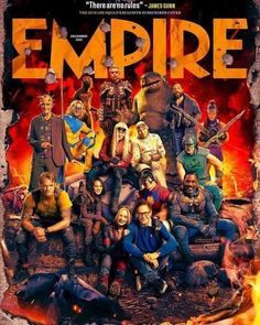 Spiderman, Batman, Empire, Black Widow, Suiced Squad, King Shark, Captain Boomerang, Margot Robbie Harley, Michael Rooker