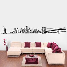 New York Skyline Wall Vynil