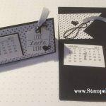 Materialpaket für den Tischkalender bestellen:  Gerne kannst Du aber auch ein, zwei, drei … fertige Materialpakete (3,50 € pro Paket zzgl. Versand) für den Mini-Kalender bei mir bestellen. Du erhälst damit alles, was Du für einen fertigen Tischkalender benötigst und kannst einfach drauflosbasteln. Bitte gib mir dafür Deine Farbwünsche an. http://stempelblock.de/mini-kalender-tischkalender-2017/