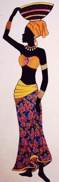 African Quilts, African Art Paintings, Acrylic Painting Flowers, Africa Art, Nature Drawing, Africa Fashion, Woman Painting, African Women, Black Art