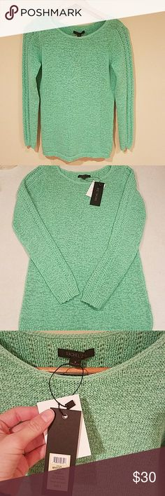 Rachel Zoe Mint Sweater NWT! So soft! Open knit. Mint color. Crew neck.  Intricate knit work with detialing on the arms and back panel. Rachel Zoe Sweaters