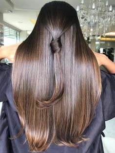 Chocolate Brown Hair Color, Brown Hair Colors, Beautiful Long Hair, Gorgeous Hair, Natural Highlights, Henna Hair, Silky Hair, Hair Blog, Indian Beauty
