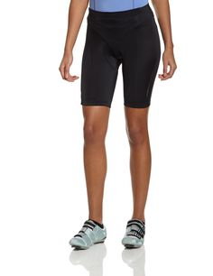 GORE BIKE WEAR Women's POWER LADY Tights quest+, size S, black. Just the essentials - short tights with anatomically shaped padded insert for the ambitious cyclist. POWER WOMEN seat pad - supports cyclist's pelvic rotation, moisture managing elastic microfiber, quick drying, breathable. Tight fit; shifted seams reduce chafing, gripper elastic on hem, inseam 23 cm/9 inches. Safety conscious reflective piping on sides and reflective logo on back. Easy care, machine washable. Contents: 1…