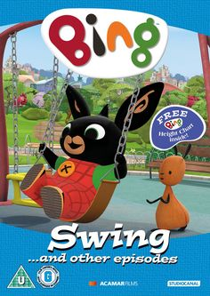 Bing DVD: 'Swing' And Other Episodes Comes with free height chart. Lego Ninjago, Paw Patrol, Cgi, Bing Bunny, Dvd Film, Movies To Watch Online, Watch Movies, Elmo Party, Mystery Thriller
