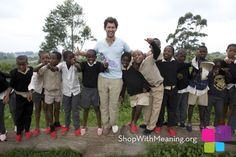 Toms Shoes - he gives one pair to children who need them for each one sold.  Very cool.