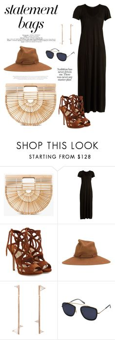 """""""Statement Bags"""" by windrasiregar on Polyvore featuring Cult Gaia, The Row, Paul Andrew, Gigi Burris Millinery, Eva Fehren and Krewe"""