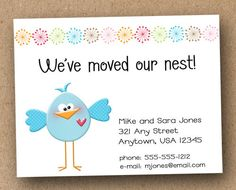 moving home cards template - 1000 images about new address cards on pinterest change