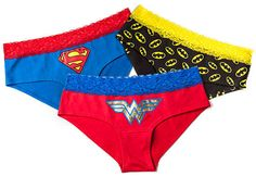Superheroine Lace Boyshorts #Christmas #Superhero #Underwear