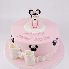 Tytön ristiäiskakku  Minnie mouse ristiäiskakku