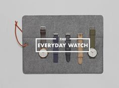 everyday watch 0 Everyday Watch: 1 Timepiece, 10 Variations, 365 Days a Year Simple Watches, Watches For Men, Leather Men, Gift Guide, Jewelry Watches, Product Launch, Mens Fashion, Pattern, Gifts
