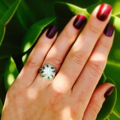 Wedding Wednesday at #CraigEvanSmall with this breathtaking #antique #Edwardian #diamond and #emerald #TiffanyAndCo #ring that we newly acquired! The center Old European Cut diamond is over 2.5 carats and beyond sparkly!