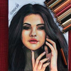 Selena Gomez fan art drawing by @Juan_DaCorte #FanArtFriday