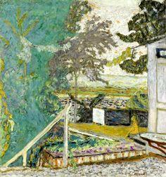 bofransson:  PIERRE BONNARD (1867-1947) La terrasse sur la Seine, Vernon