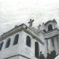 Convento da Penha - ES. Arte em giz pastel inspirada na fotografia de Nicole Curtinovi. -------------------------------------------- Convento da Penha - ES - Brazil. Art inspired by Nicole Curtinovi photography. -------------------------------------------- #oilpastel #design #mockup #es