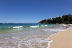 LAIE: if you take a drive around the island this beach is a relaxing much less populated spot to enjoy time on the beach. Drive to just about any dead end road near the beach and walk between the houses to the water. Remember all beaches in Hawaii are public!