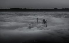 Fogged Bay Bridges by Toby Harriman on 500px