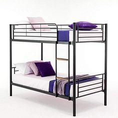 Single Sleeper Bunk Bed Metal Single Twin 2 Children's Bunk Bed Childrens Bunk Beds, Single Bunk Bed, Metal Bunk Beds, Twins, Furniture, Home Decor, Decoration Home, Room Decor, Loft Beds Kids
