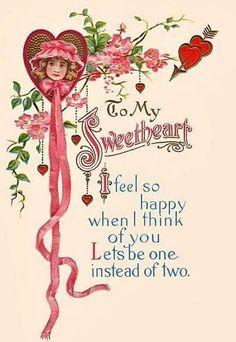 My Funny Valentine, Valentines Day Poems, Valentine Picture, Valentine Images, Valentines Greetings, Vintage Valentine Cards, Vintage Greeting Cards, Vintage Postcards, Vintage Images