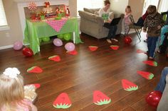Strawberry Cake Walk & other games: Patty Cakes Bakery: Strawberry Shortcake Birthday Party Could also use for musical berries?