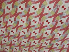 red hour glass quilt