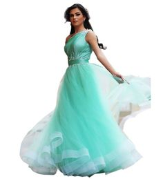 EnjoyDress Women's Mint Long Ball Prom Dresses One Shoulder Quinceanera Dresses Size 10. US Size2--26 & Custom make,if you want custom,please contact us before you place order. Zipper up back,when you choose your size, you had better choose the bigger size,it is better to choose bigger 2cm, please not choose a little small size. Can be used for prom dresses,party dresses,formal gowns,pageant dress,evening dress,Quinceanera dresses. Quick shipping time,you will get it within 20 business...