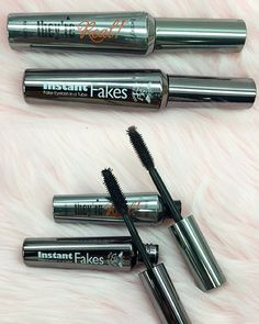 "DUPE ALERT! Benefit ""They're Real Mascara"" ($24) next to Ruby Kisses ""Instant Fakes False Lashes"" in a Tube Mascara ($4.99)"