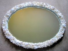 Beach Decor Shell Mirror  Nautical Seashell by beachgrasscottage, $1100.00
