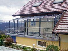 Struttura in alluminio con le vetrate panoramiche