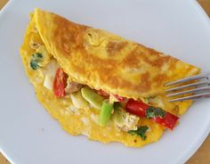 Chicken and spring onion omelette - CookTogether