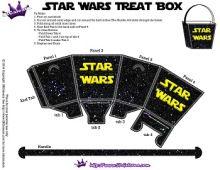 Free Star Wars Party Printables and Recipes! Treat Box | SKGaleana #starwars