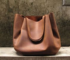 Strapped Handmade Leather Shoulder Bag