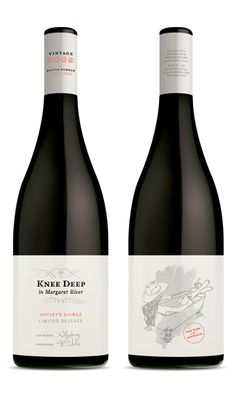 Knee Deep Wines, Margaret River. Brand Development and Packaging Design by Studio Lost & Found - http://www.studiolostandfound.com/ #wine #winelabel #packaging #branding #design