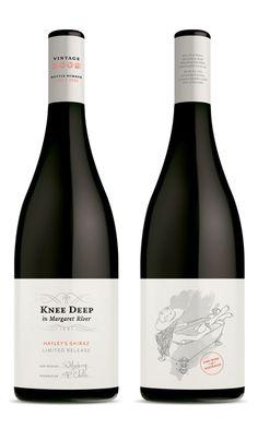 Knee Deep Wines, Margaret River. Brand Development and Packaging Design by Studio Lost & Found - http://www.studiolostandfound.com/ #wine #winelabel #packaging #branding #design
