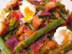La cocina de Lola: Judías verdes a la madrileña con huevos de codorniz