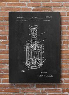Fruit Corer Patent Print Kitchen Patent Kitchen Decor by dalumna