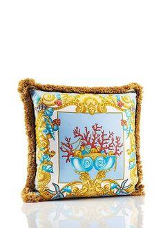 Versace Les Trésors De La Mer Pillow From The Home Signature Collection.