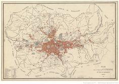 Plan de la ville de Saint-Etienne et de sa banlieue
