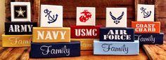 our military block sets...$25 each  www.etsy.com/shop/krcustomwoodcrafts