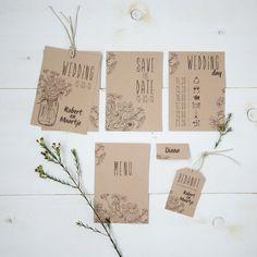 Stationery • Rustic wedding