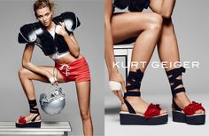 Kurt Geiger lands another top model with its spring-summer 2016 campaign. Karlie Kloss appears in the new advertisements captured by Erik Torstensson.