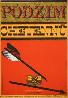 """""""Stunning Czech #poster for John Ford's 'Cheyenne Autumn' (1964).   Art by Zdenek Ziegler"""""""