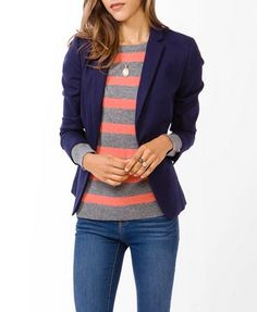 very chic... The Notched Lapel Twill Blazer is $34.80. All Forever 21!