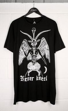 Never Kneel Long T-Shirt #disturbiaclothing disturbia metal silver alien goth occult grunge alternative punk