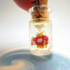 Pokemon Magikarp in a bottle by TrenoNights on Etsy, $7.00