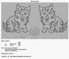 un solo color Cat Cross Stitches, Funny Cross Stitch Patterns, Cross Stitch Freebies, Knitting Stitches, Cross Stitching, Beaded Cross Stitch, Crochet Cross, Filet Crochet Charts, Crochet Cushions