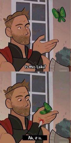 Butterfly of mischief xD #Loki #Thor #Thorki
