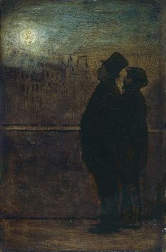'The Night Walkers' by Honore Daumier