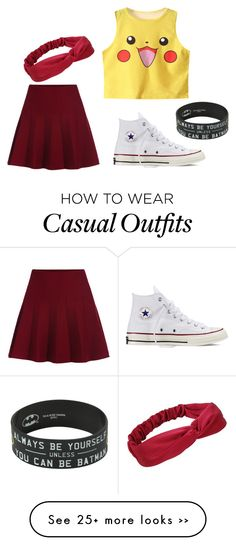 """casual"" by adilanaulia on Polyvore featuring Converse"