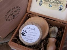Mens Shaving Kit CIgar Box Beer Soap by DirtyDeedsSoaps on Etsy